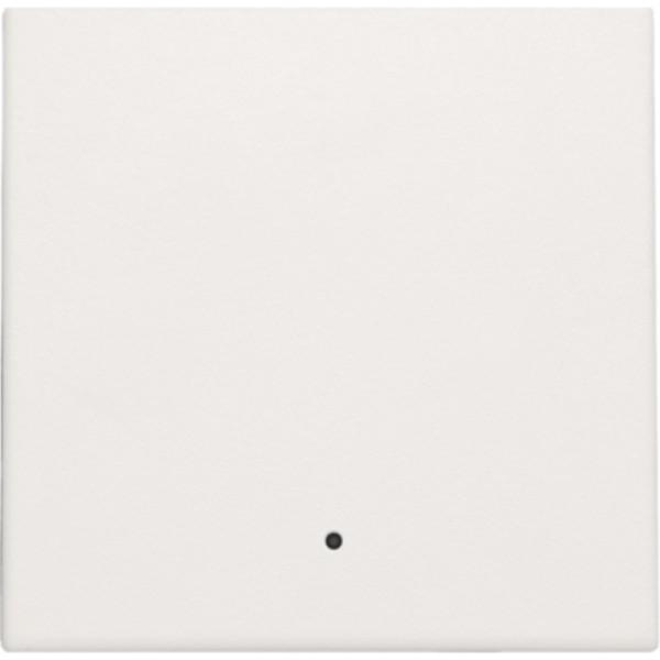 Afwerkingsset met lens voor elektronische schakelaar of drukknop, white