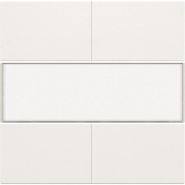Afwerkingsset voor 4-voudige potentiaalvrije drukknop 24 V met tekstveld, white