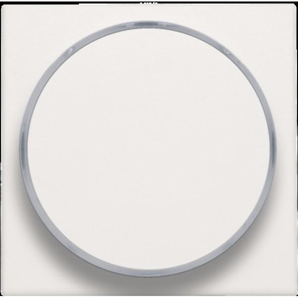 Afwerkingsset met doorschijnende ring zonder symbool voor drukknop 6 A met amberkleurige led met E10-lampvoet, white