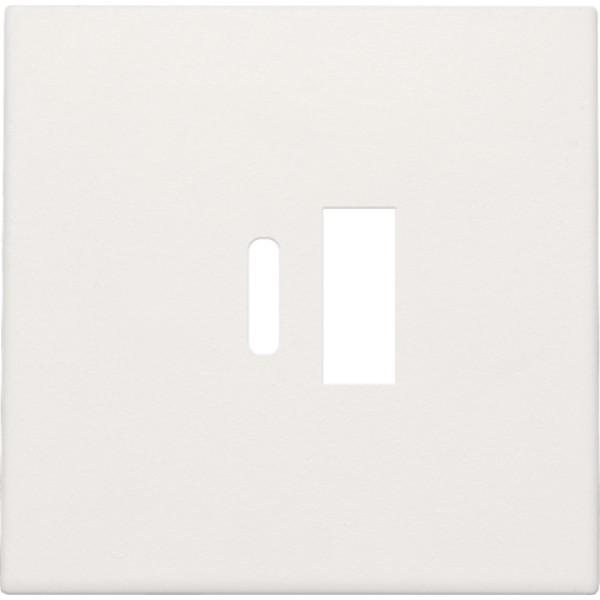 Afwerkingsset voor dubbele smart USB-A en USB-C-lader, white