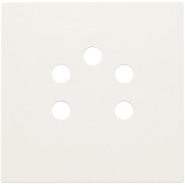 Afwerkingsset voor 5-polige telefooncontactdoos, white