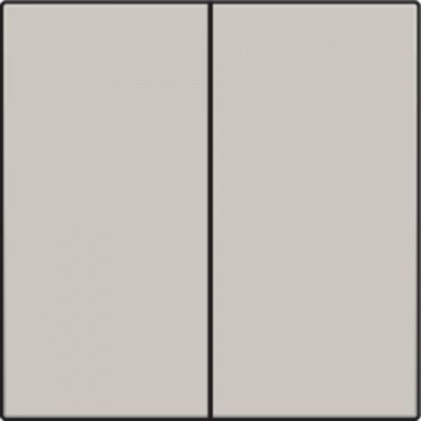 Afwerkingsset voor dubbele elektronische schakelaar of drukknop, light grey