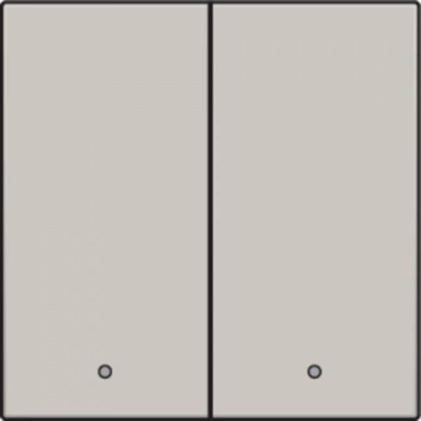 Afwerkingsset met lens voor dubbele elektronische schakelaar of drukknop, light grey