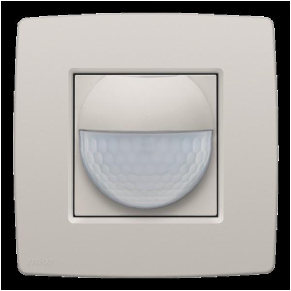 Afwerkingsset voor binnenbewegingsmelder voor Niko Home Control, light grey