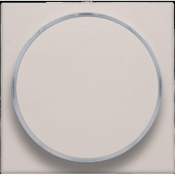 Afwerkingsset met doorschijnende ring zonder symbool voor drukknop 6 A met amberkleurige led met E10-lampvoet, light grey