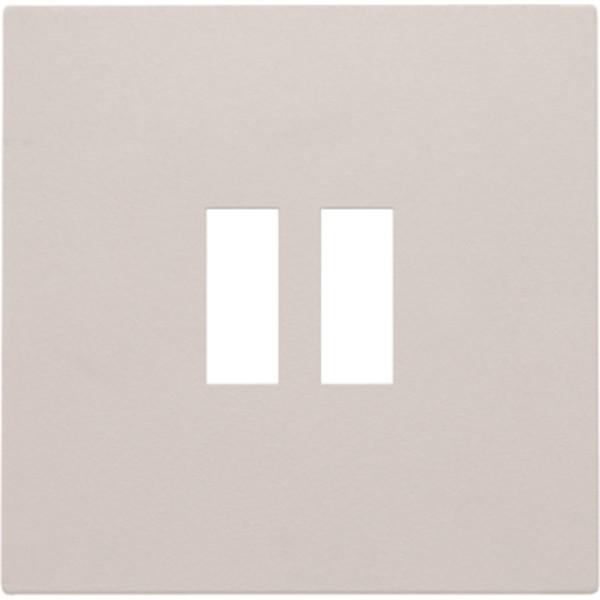 Afwerkingsset voor dubbele USB-A-lader, light grey