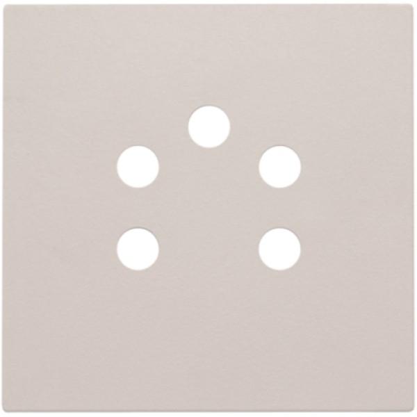 Afwerkingsset voor 5-polige telefooncontactdoos, light grey