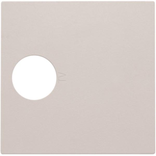 Afwerkingsset voor enkelvoudige coaxaansluiting voor tv, light grey