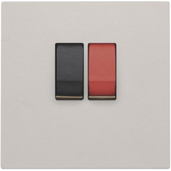 Afwerkingsset voor enkelvoudige luidsprekeraansluiting, light grey