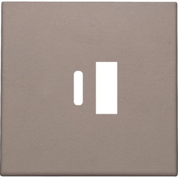 Afwerkingsset voor dubbele smart USB-A en USB-C-lader, greige