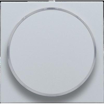 Afwerkingsset met doorschijnende ring zonder symbool voor drukknop 6 A met amberkleurige led met E10-lampvoet, sterling  Niko