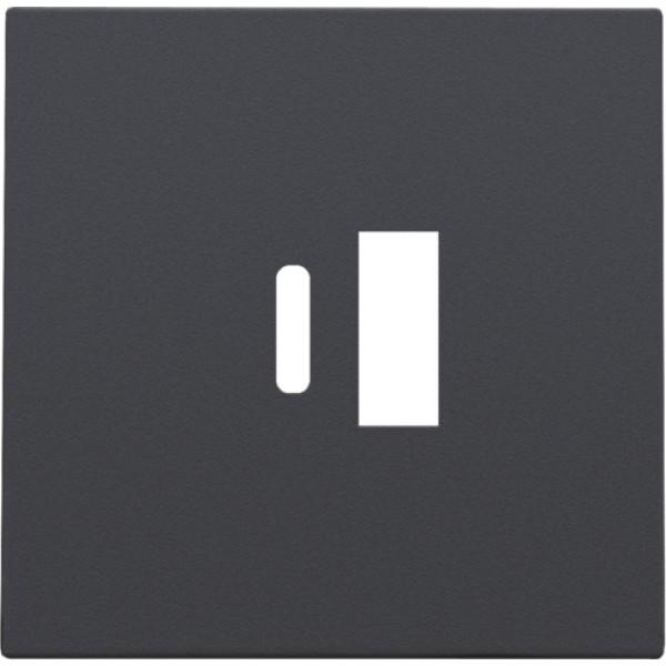 Afwerkingsset voor dubbele smart USB-A en USB-C-lader, anthracite