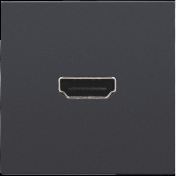 Afwerkingsset met HDMI-naar-schroefaansluiting, anthracite