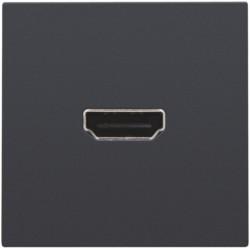 Afwerkingsset met HDMI-naar-HDMI-aansluiting, anthracite  Niko