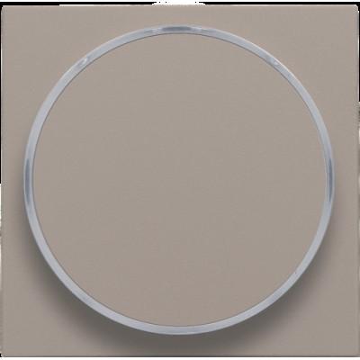 Afwerkingsset met doorschijnende ring zonder symbool voor drukknop 6 A met amberkleurige led met E10-lampvoet, bronze  Niko