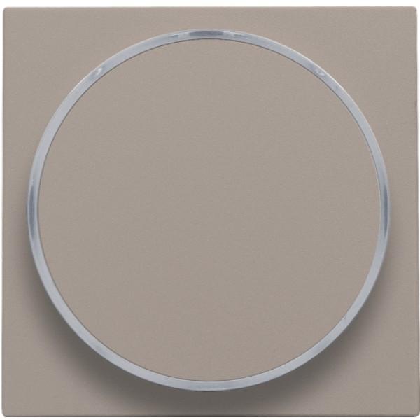 Afwerkingsset met doorschijnende ring zonder symbool voor drukknop 6 A met amberkleurige led met E10-lampvoet, bronze