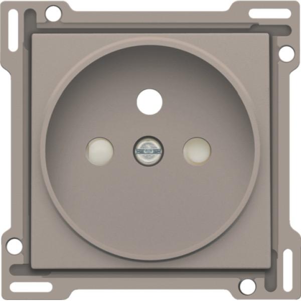 Afwerkingsset voor stopcontact met penaarde en beschermingsafsluiters, inbouwdiepte 21 mm, bronze