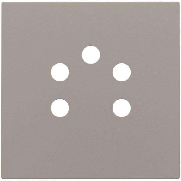 Afwerkingsset voor 5-polige telefooncontactdoos, bronze