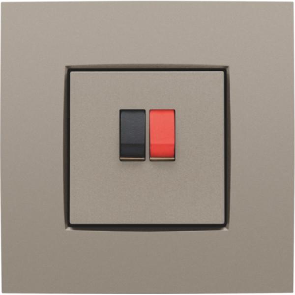 Afwerkingsset voor enkelvoudige luidsprekeraansluiting, bronze