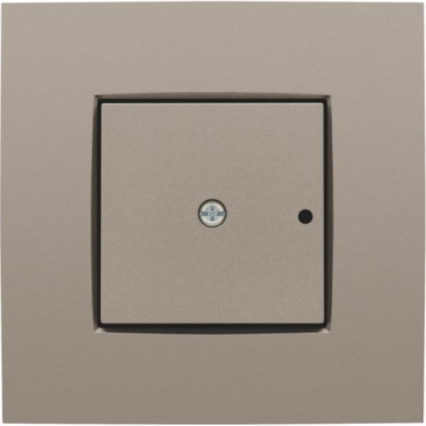Afwerkingsset voor 1-kanaals inbouw RF-ontvanger met enkelpolig (potentiaalvrij) schakelcontact of inbouw RF-ontvanger met rolluikfunctie, bronze