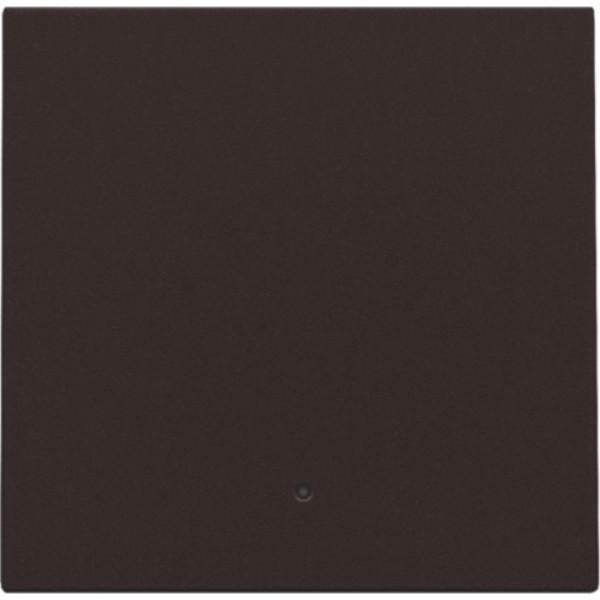 Afwerkingsset met lens voor elektronische schakelaar of drukknop, dark brown
