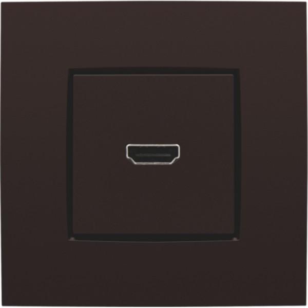 Afwerkingsset met HDMI-naar-schroefaansluiting, dark brown