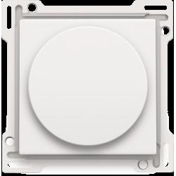 Afwerkingsset voor draaiknopdimmer of snelheidsregelaar, incl. draaiknop, white coated  Niko
