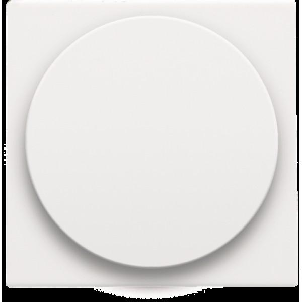 Afwerkingsset voor draaiknopdimmer of extensie, incl. draaiknop, white coated