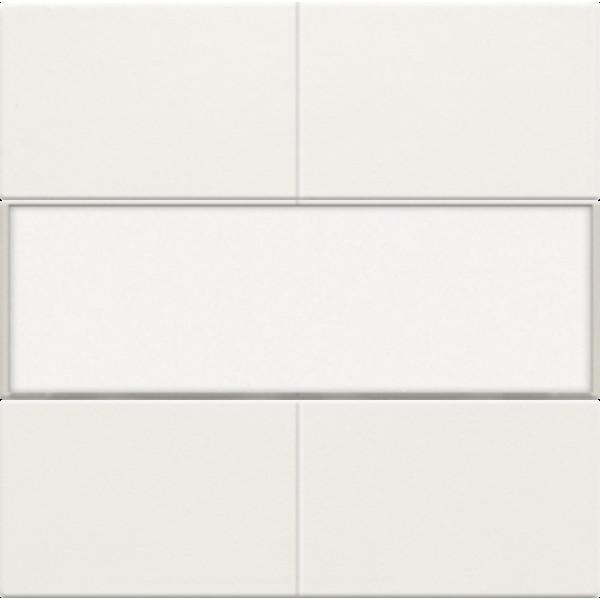 Afwerkingsset voor 4-voudige potentiaalvrije drukknop 24 V met tekstveld, white coated