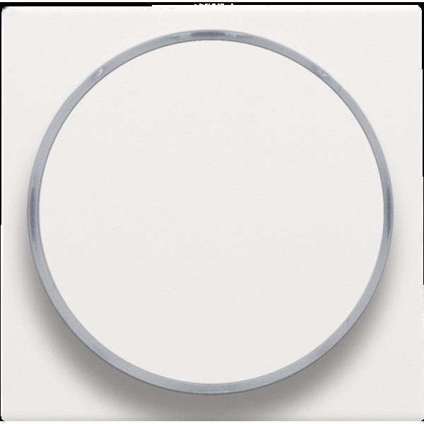 Afwerkingsset met doorschijnende ring zonder symbool voor drukknop 6 A met amberkleurige led met E10-lampvoet, white coated
