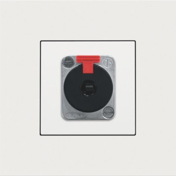 Afwerkingsset voor XLR- of JACK-aansluiting, white coated