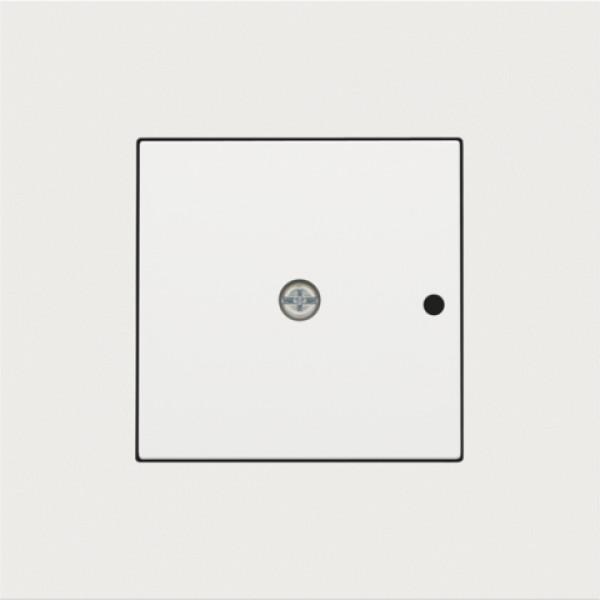 Afwerkingsset voor 1-kanaals inbouw RF-ontvanger met enkelpolig (potentiaalvrij) schakelcontact of inbouw RF-ontvanger met rolluikfunctie, white coated