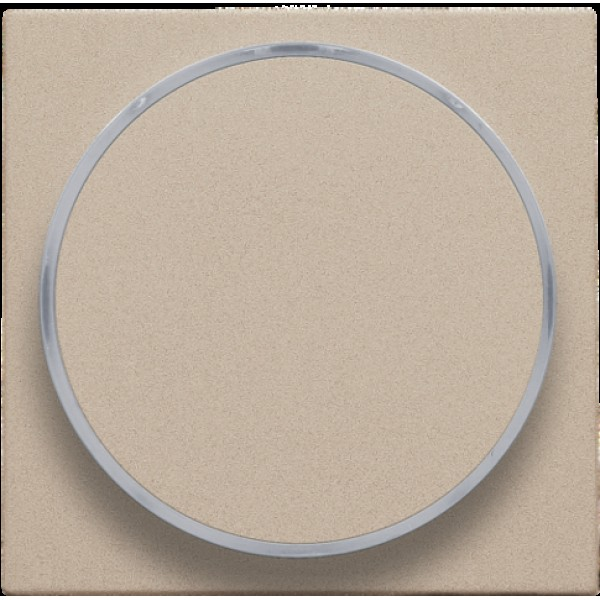Afwerkingsset met doorschijnende ring zonder symbool voor drukknop 6 A met amberkleurige led met E10-lampvoet, champagne coated