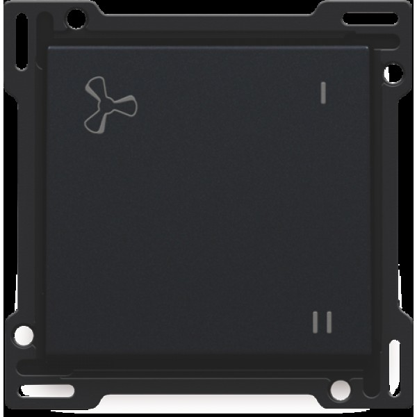 Afwerkingsset voor mechanisch gecontroleerde ventilatiebediening, black coated