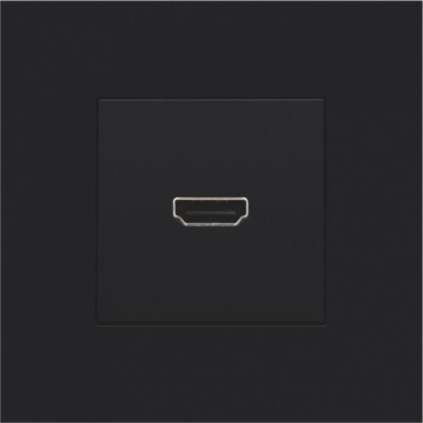 Afwerkingsset met HDMI-naar-schroefaansluiting, black coated