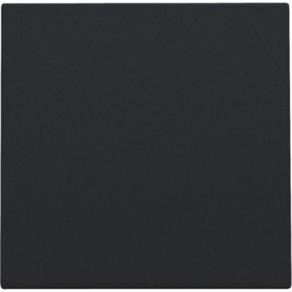 Afwerkingsset met kabeluitvoer voor blindplaat met trekontlasting, black coated