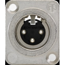 Mannelijke XLR-connector voor XLR- of JACK-aansluiting  Niko