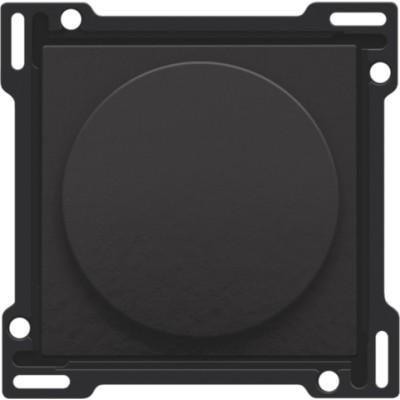 Afwerkingsset voor draaiknopdimmer of snelheidsregelaar, incl. draaiknop, Bakelite® piano black coated  Niko