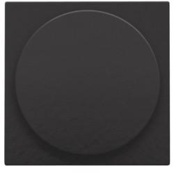 Afwerkingsset voor draaiknopdimmer of extensie, incl. draaiknop, Bakelite® piano black coated  Niko