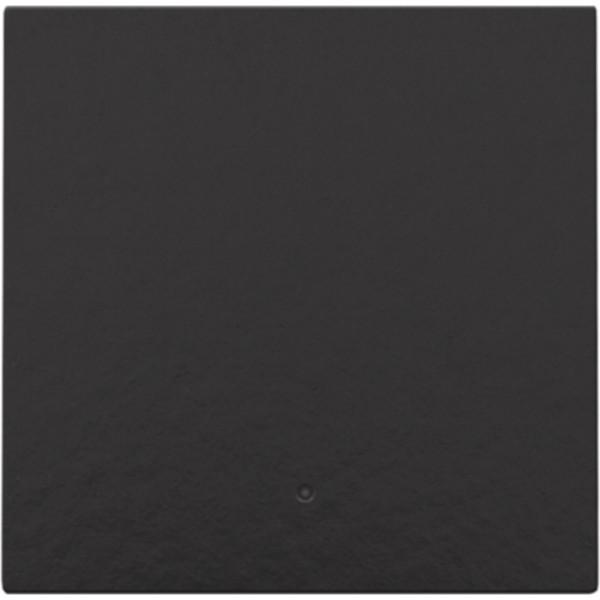 Afwerkingsset met lens voor elektronische schakelaar of drukknop, piano black coated