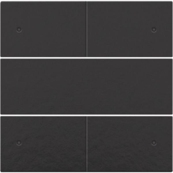 Afwerkingsset voor 4-voudige potentiaalvrije drukknop 24 V met leds, piano black coated
