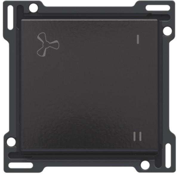 Afwerkingsset voor mechanisch gecontroleerde ventilatiebediening, Bakelite® piano black coated