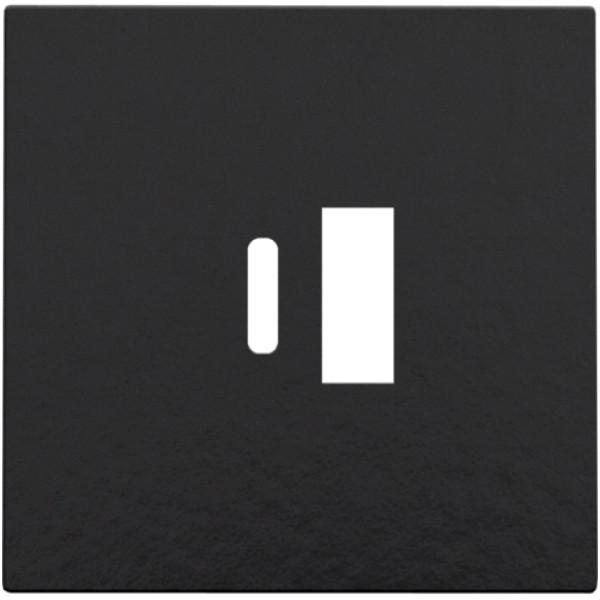 Afwerkingsset voor dubbele smart USB-A en USB-C-lader, Bakelite® piano black coated