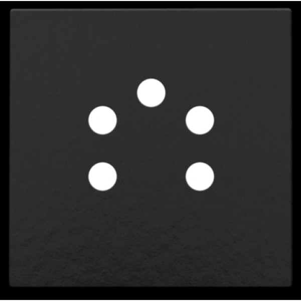 Afwerkingsset voor 5-polige telefooncontactdoos, Bakelite® piano black coated