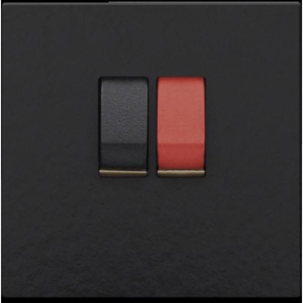 Afwerkingsset voor enkelvoudige luidsprekeraansluiting, Bakelite® piano black coated