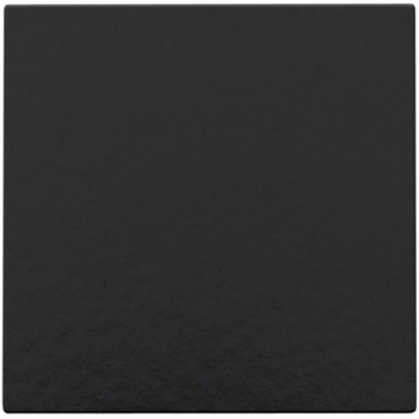 Afwerkingsset met kabeluitvoer voor blindplaat met trekontlasting, Bakelite® piano black coated