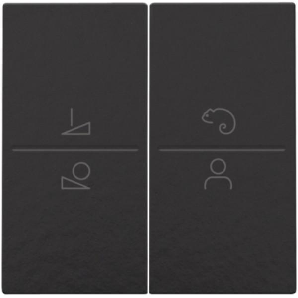 Afwerkingsset voor ledbediening met draadloze schakelaar, Bakelite® piano black coated
