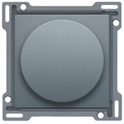 Afwerkingsset voor draaiknopdimmer of snelheidsregelaar, incl. draaiknop, alu steel grey coated  Niko