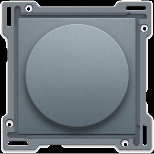 Afwerkingsset voor draaiknopdimmer of snelheidsregelaar, incl. draaiknop, alu steel grey coated