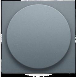 Afwerkingsset voor draaiknopdimmer of extensie, incl. draaiknop, alu steel grey coated  Niko